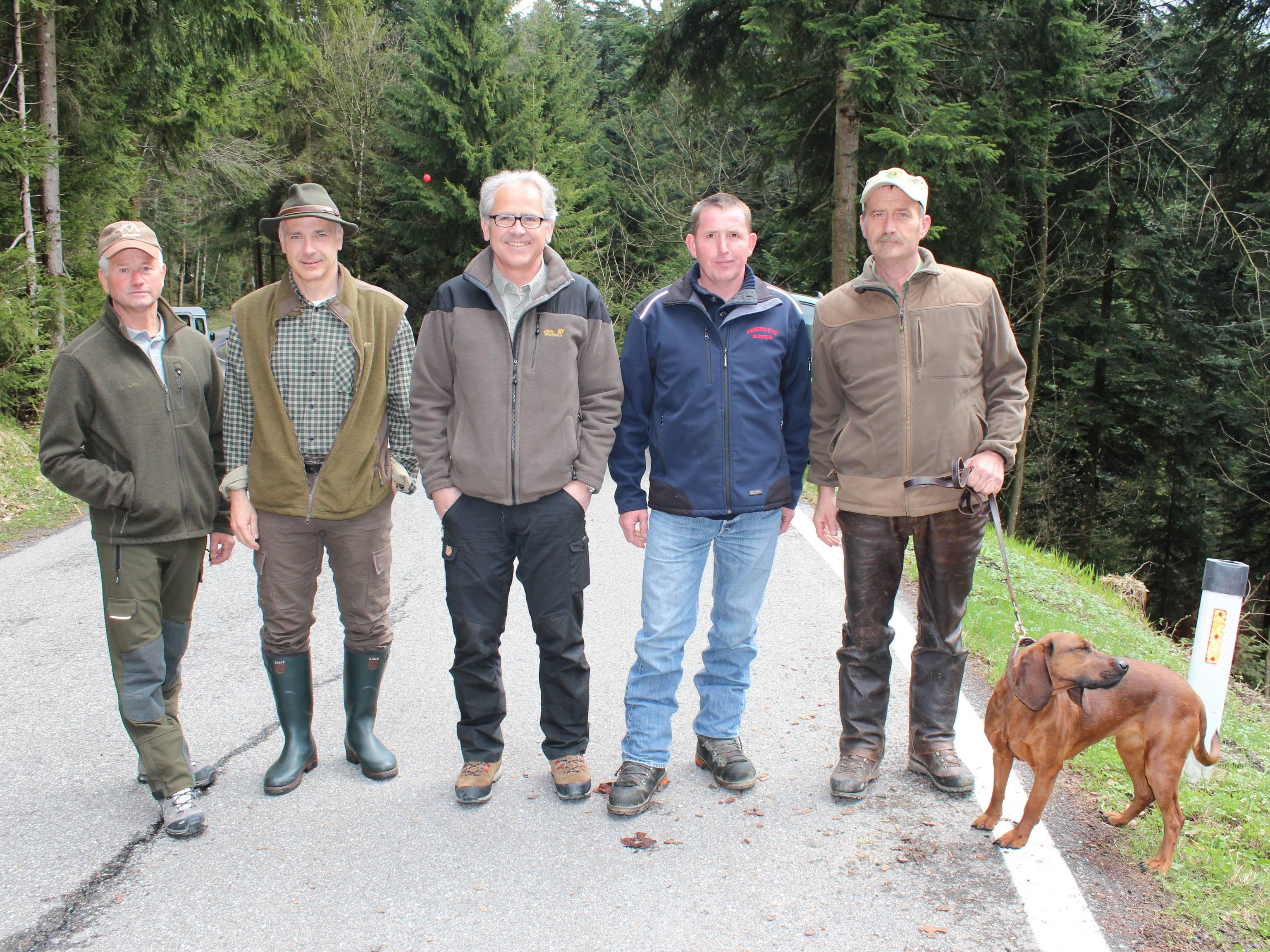 Gebhard Vögel, Andreas Germann, Christof Germann, Kurt Winder und Peter Greber.