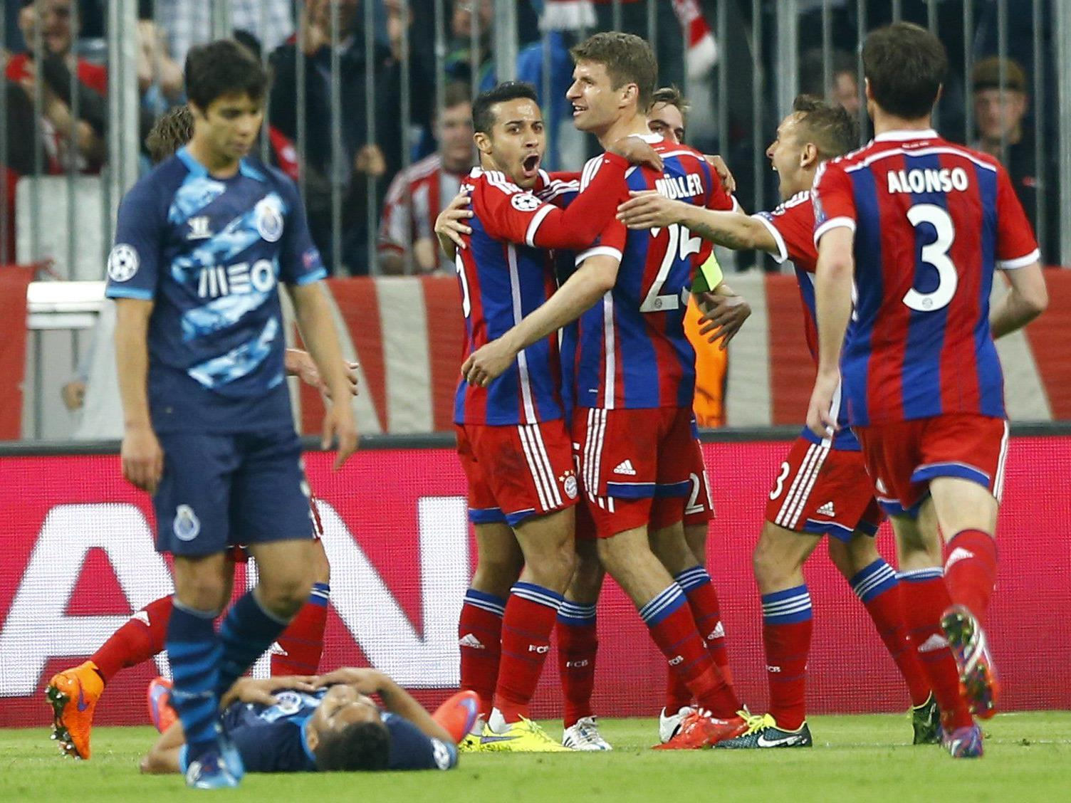 Bayern deklassierte den FC Porto im Viertelfinal-Rückspiel.