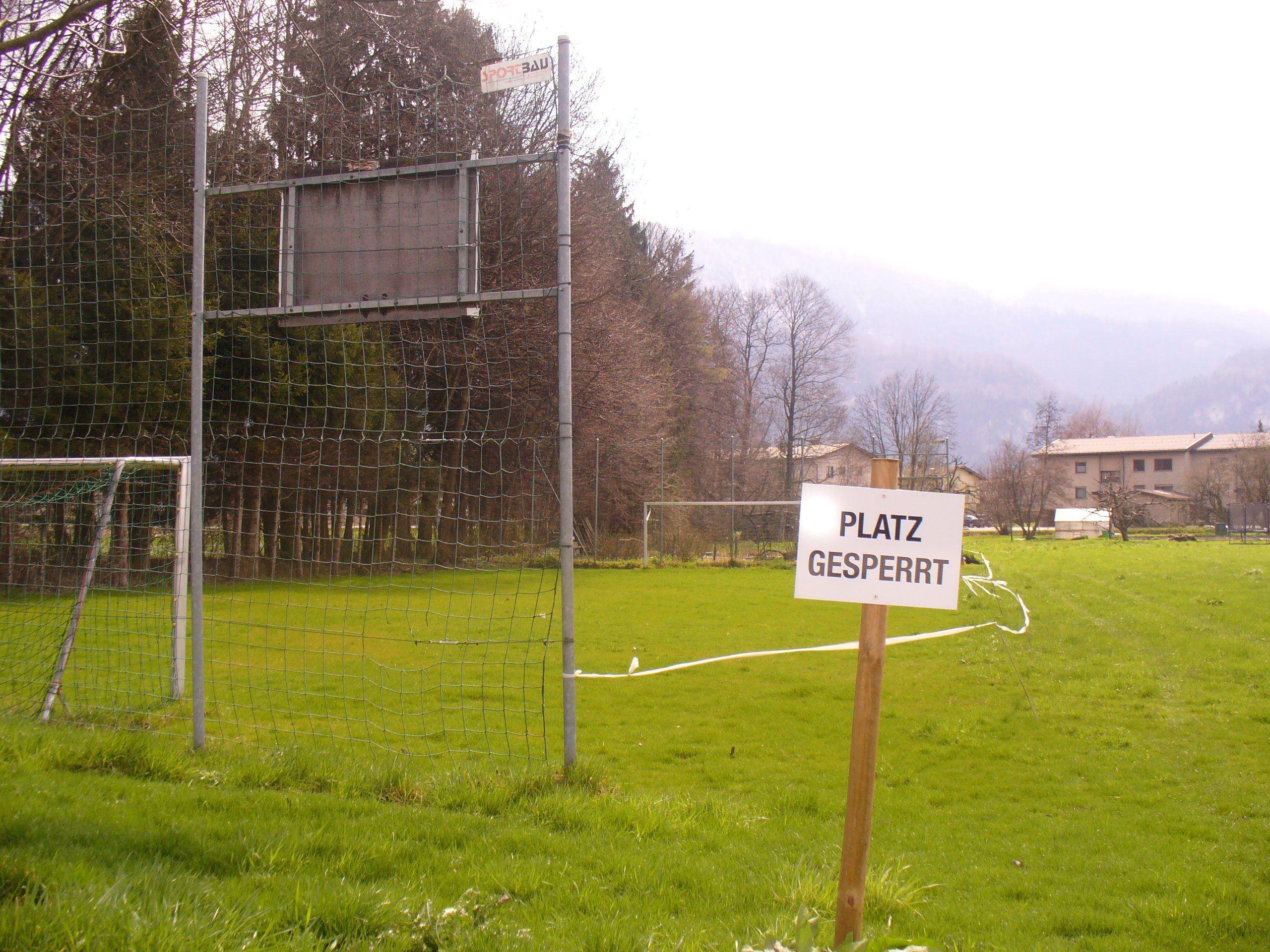Der Fußballplatz im Bofel wird in Kürze wieder bespielbar sein