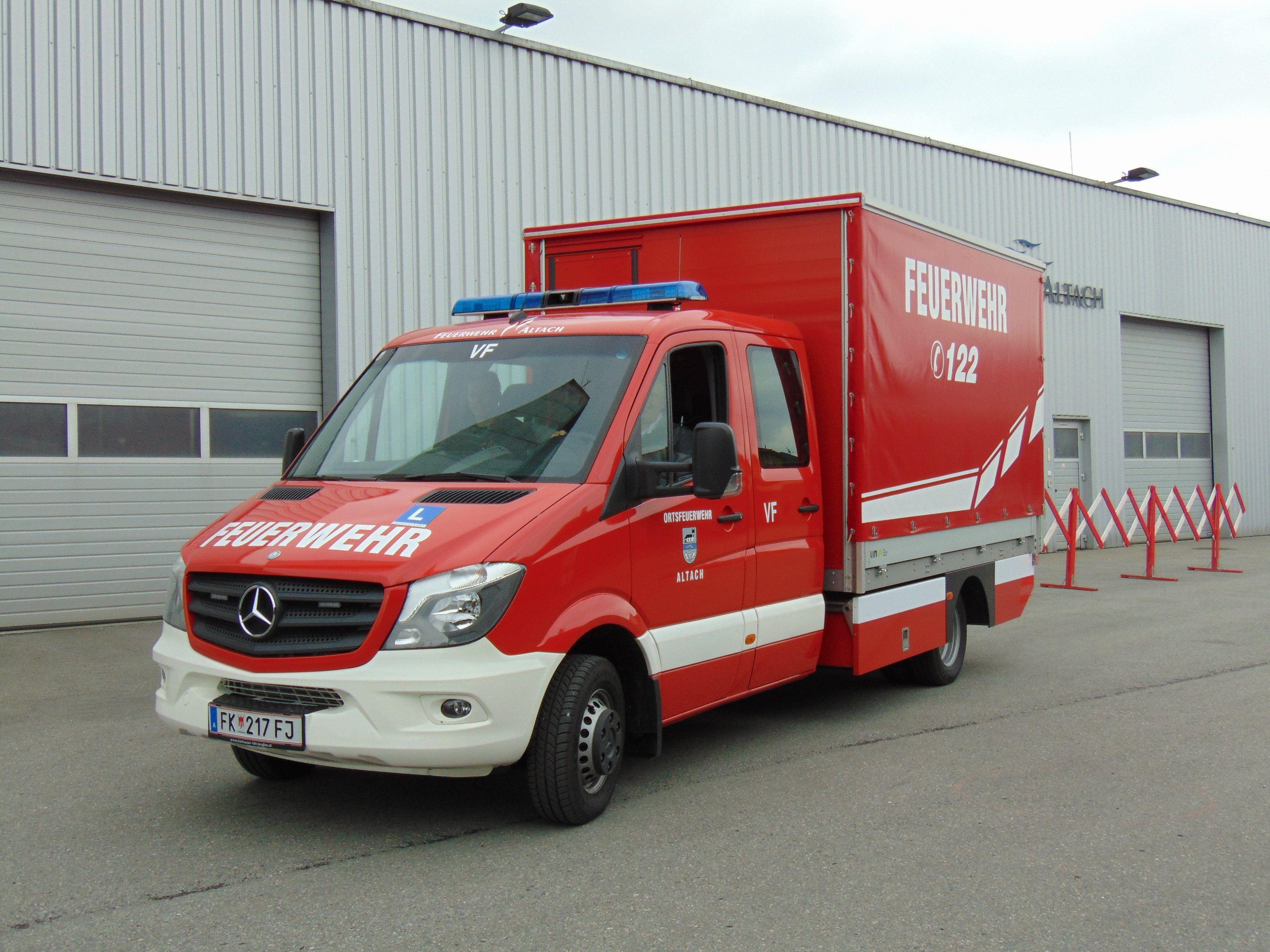 Das neue Versorgungsfahrzeug der Feuerwehr Altach