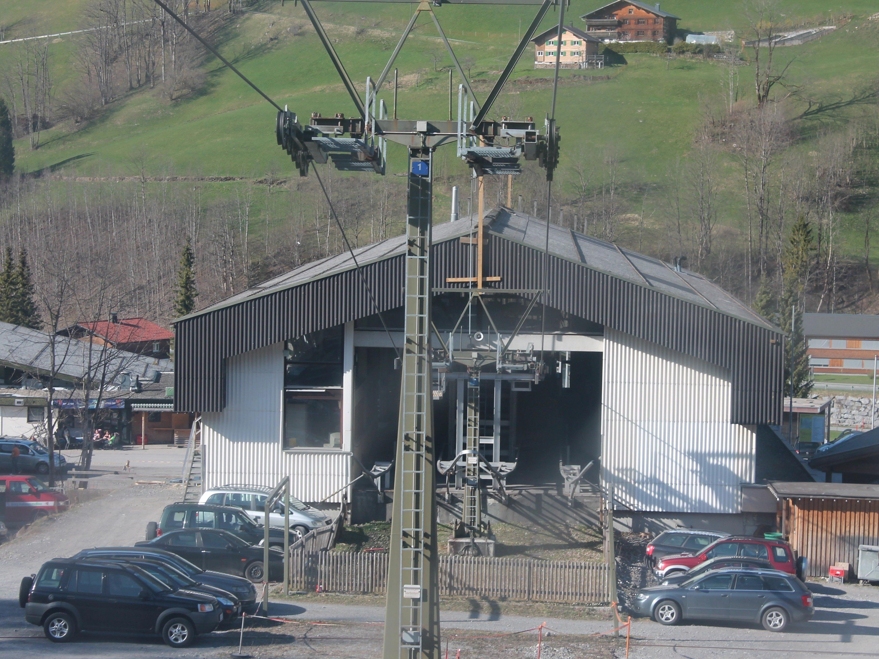Die alte Bahn im Skigebiet Mellau Damüls hat ausgedient.
