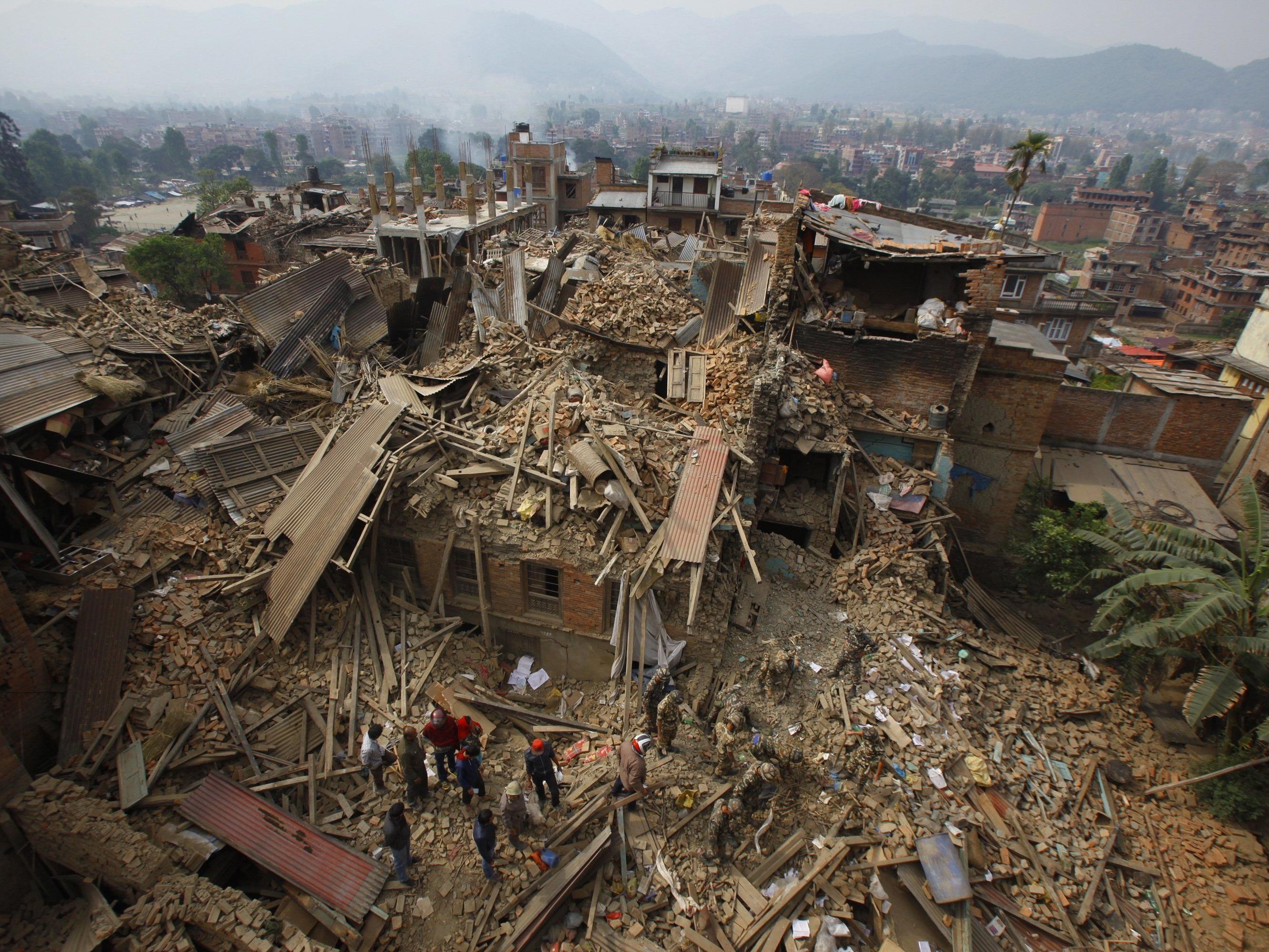 Das schwere Erdbeben in Nepal forderte mindestens 2.000 Todesopfer.