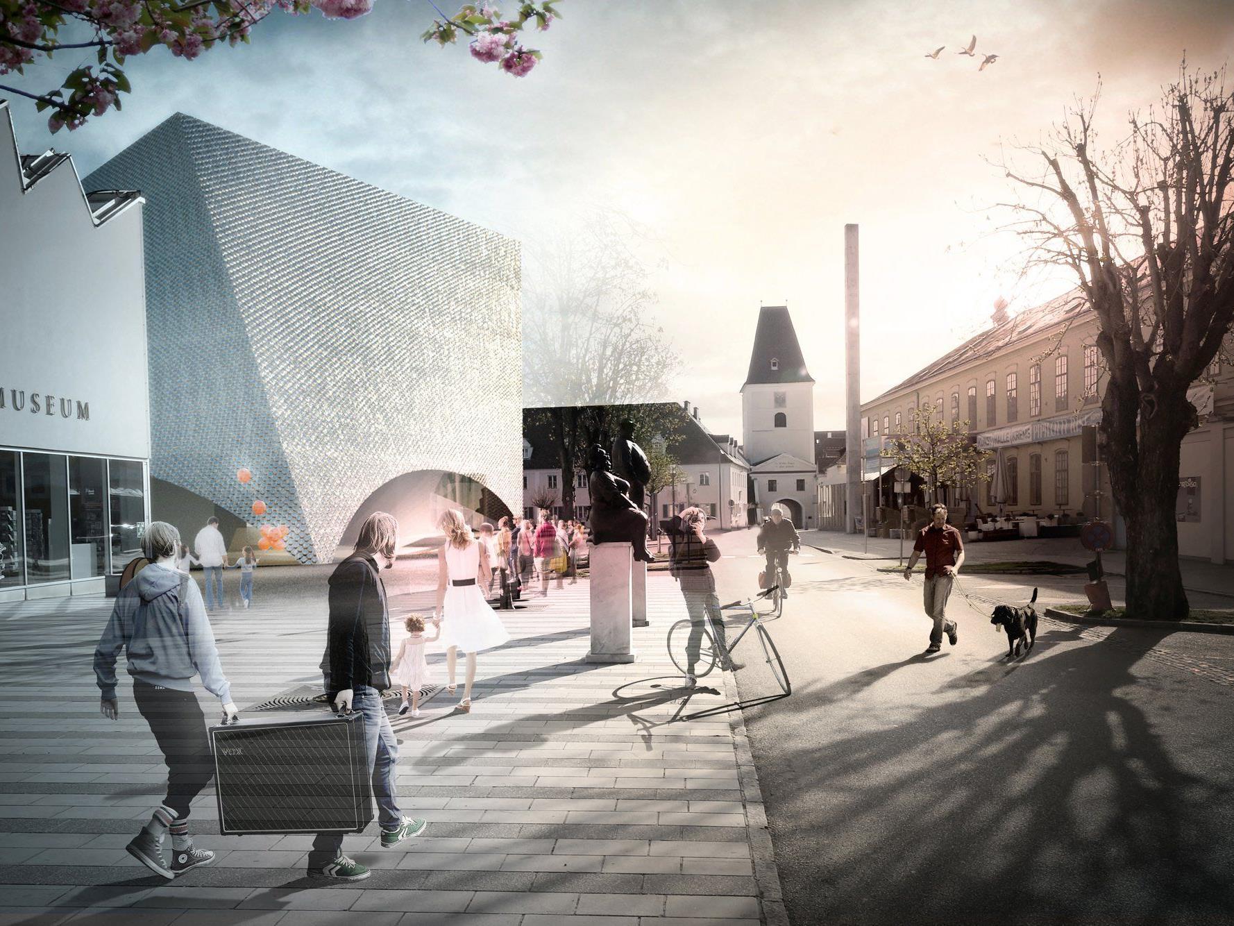 """Das Architektenbüro Marte.Marte entwirft die """"Galerie Niederösterreich""""."""