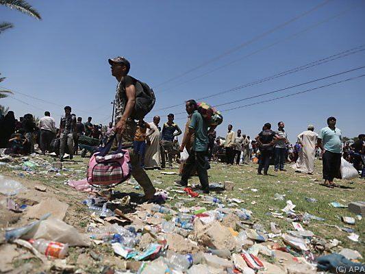 Flüchtlingsstrom vor allem in Richtung Bagdad