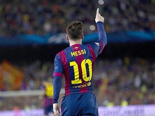 Messi für die Bayern-Abwehrspieler zu gut