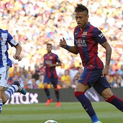 Neymar (r.) traf wieder für die Katalanen