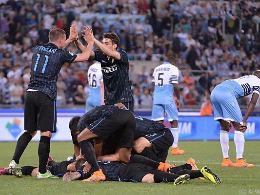 Inter jubelt über den Sieg in Rom