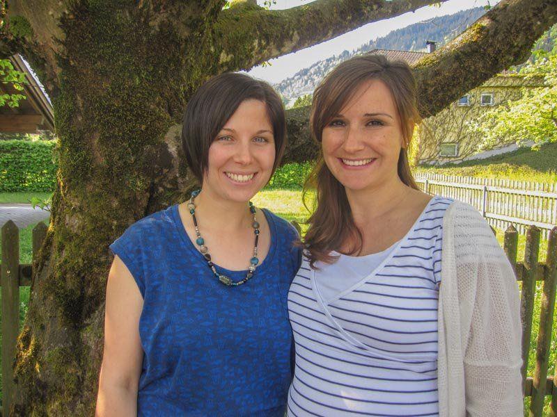 Nadine Vallaster (li.) übernimmt ab 22. Mai die Leitung des Kindergartens Vandans von Martina Bitschnau (re.).
