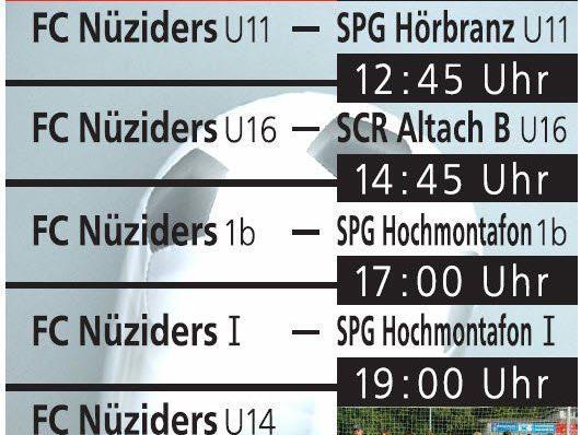 FC Nüziders I - SPG Hochmontafon - Sonntag 31.05. - Spielbeginn 17:00