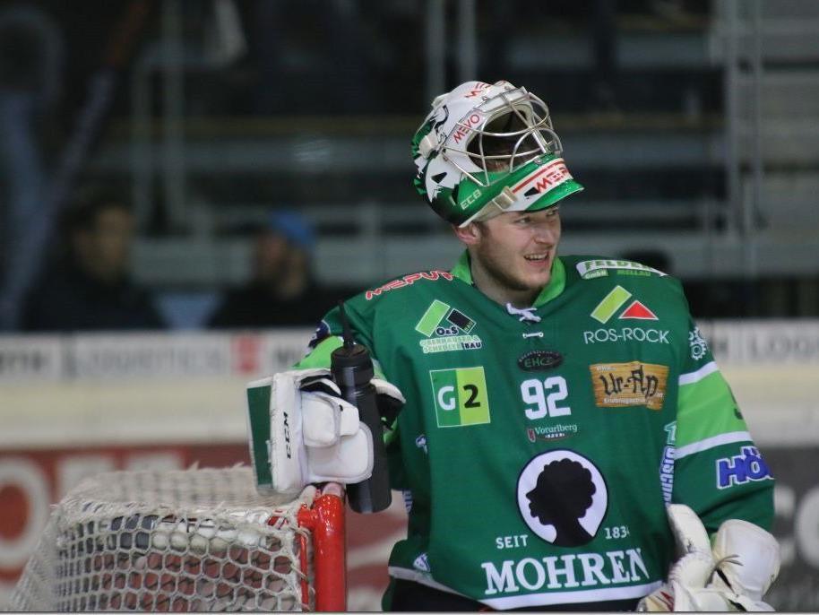 EHC Bregenzerwald Goalie Oskar Östlund erhält in Norwegen einen Profivertrag