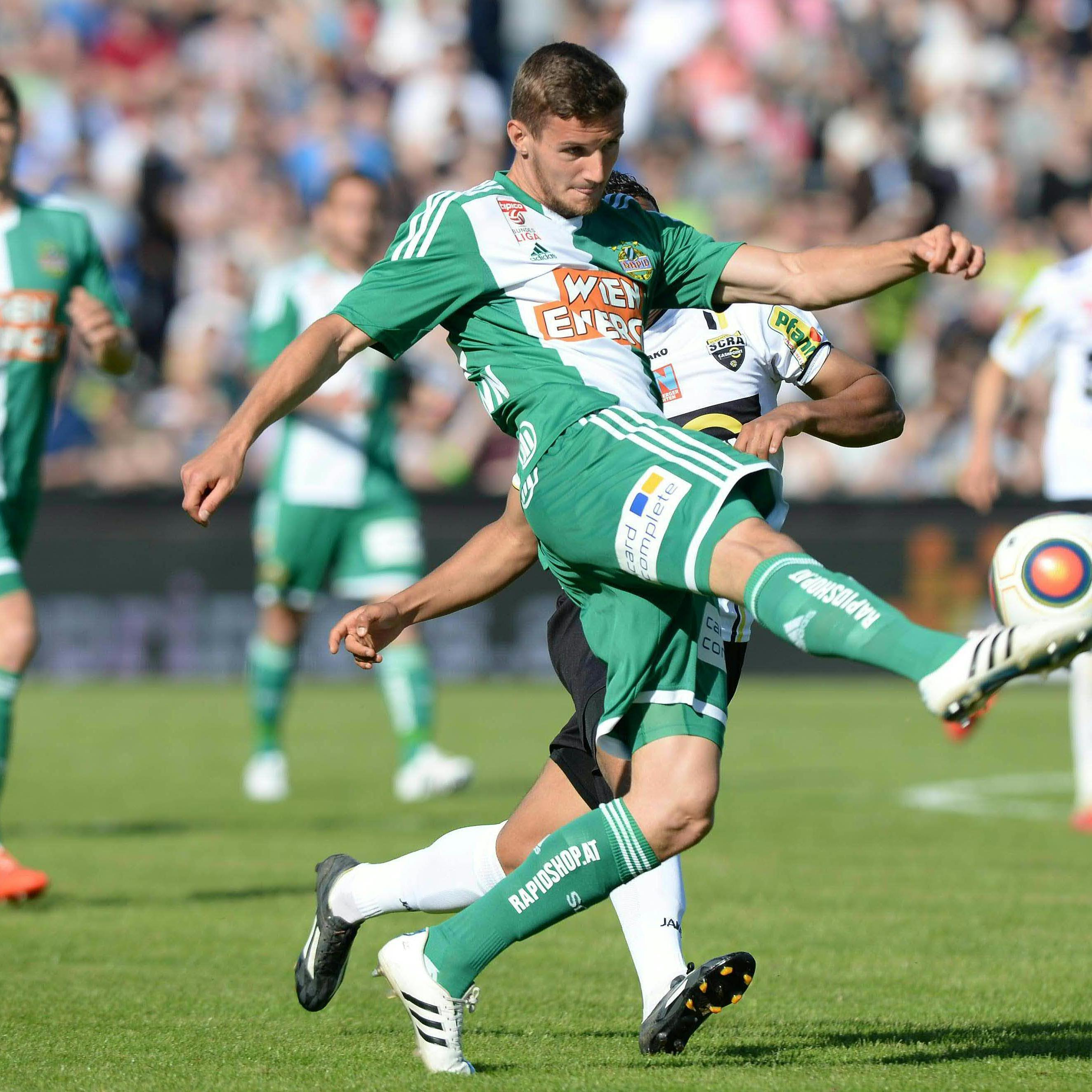 Rapid Wien konnte im direkten Duell um Platz zwei gegen SCR Altach als Sieger vom Platz gehen.