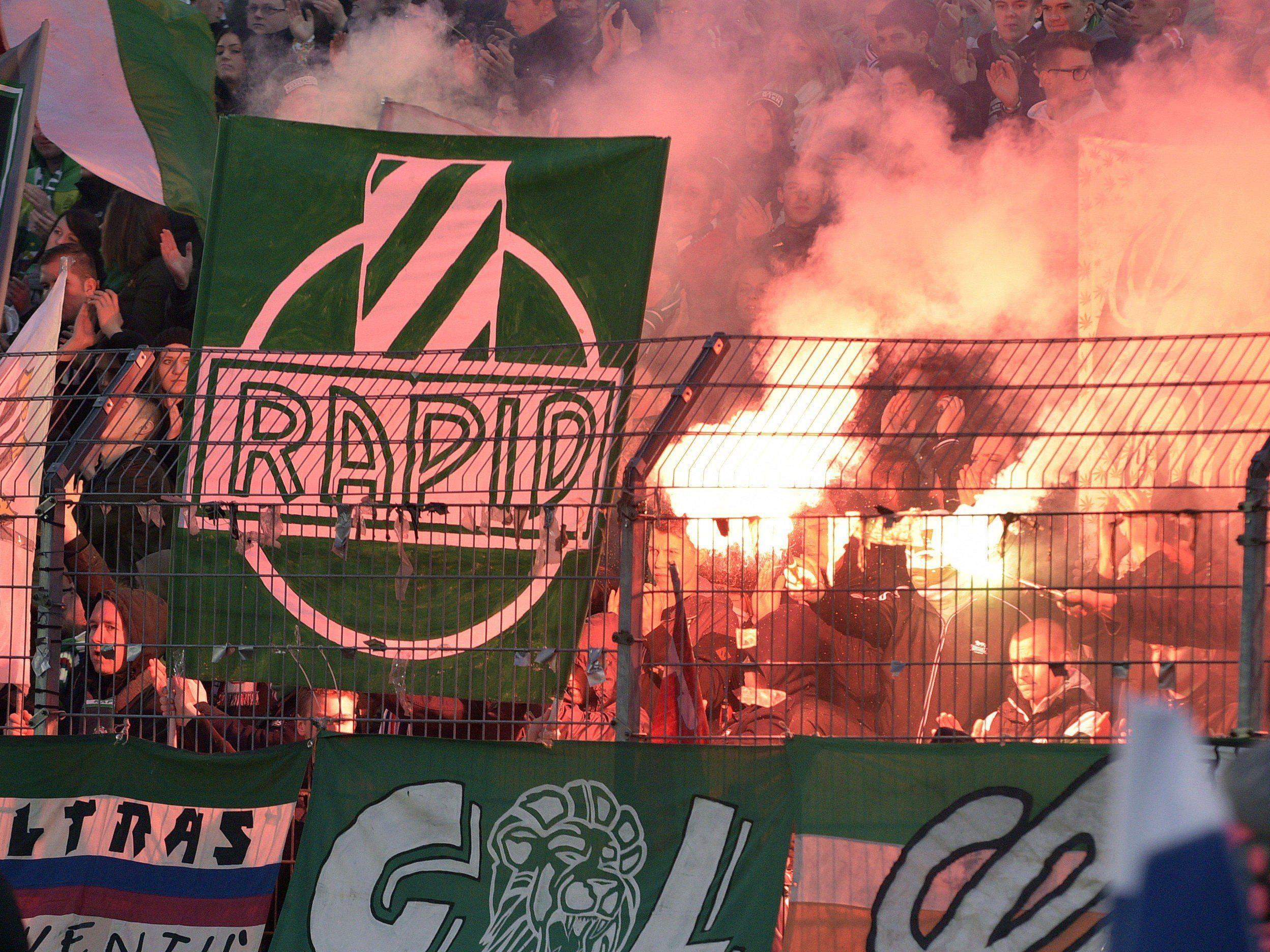 Rapid Wien erhielt Genehmigung für Pyrotechnik beim Wiener Derby.