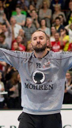 Golub Doknic war mit zahlreichen Paraden der Spieler des Abends.