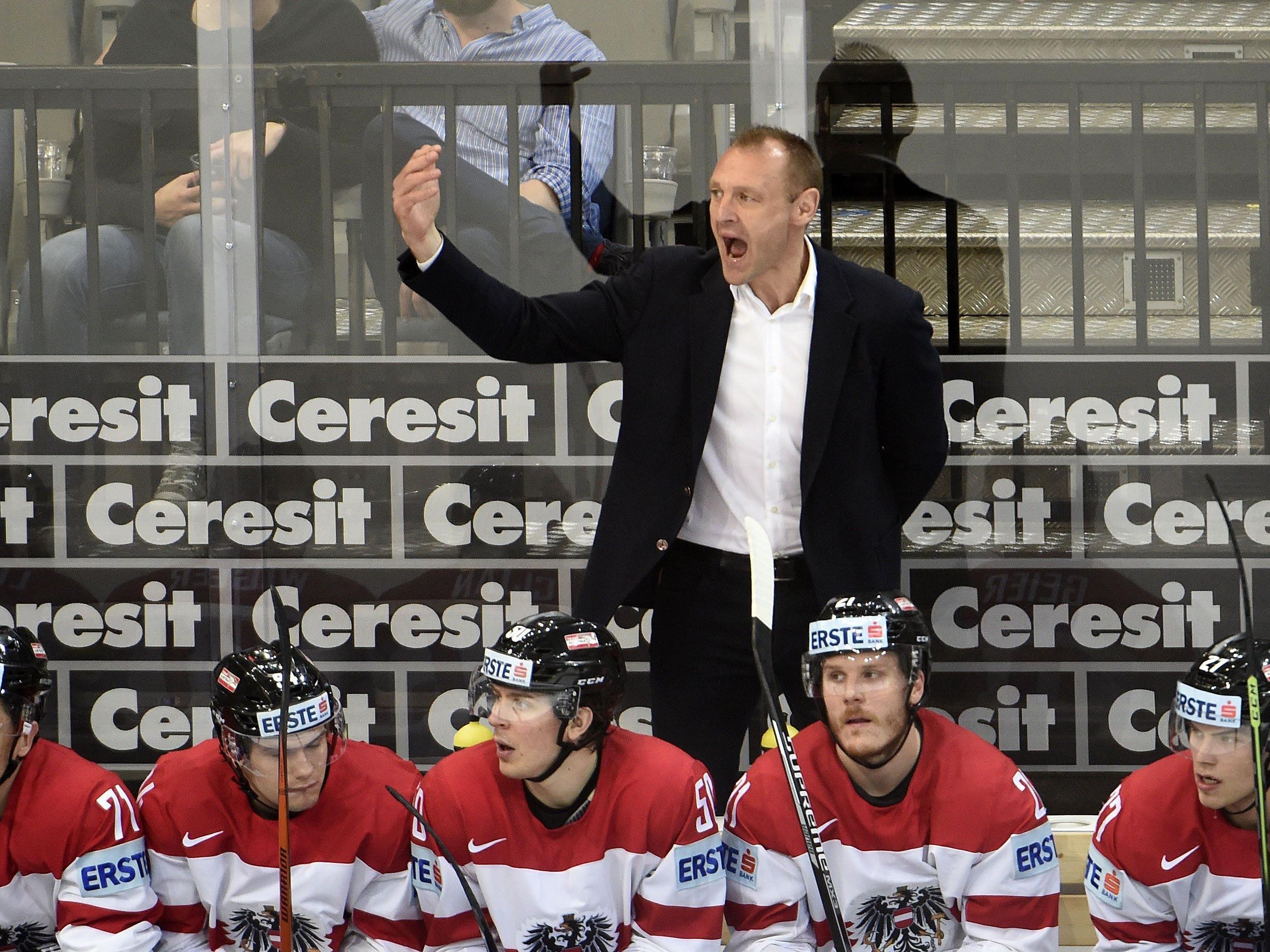 Begegnung zwischen Österreich und Frankreich in der O2-Arena in Prag.
