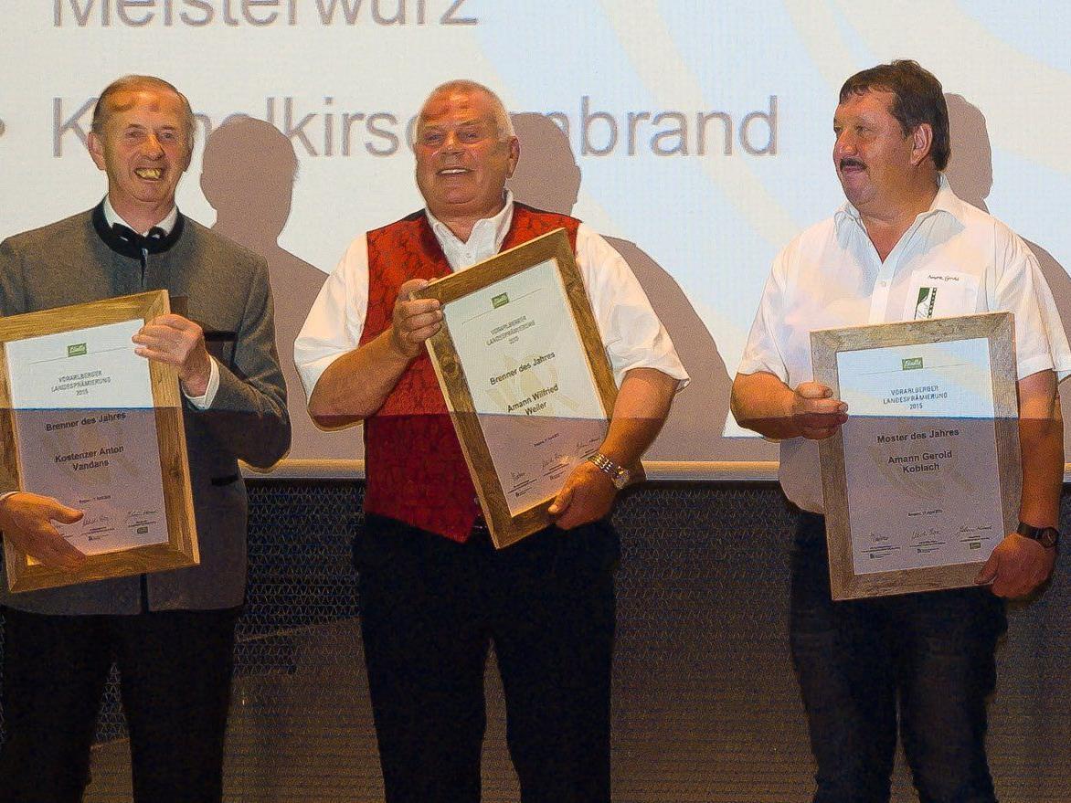 Anton Kostenzer (erster v.l.) wurde zum dritten Mal hintereinander Brenner des Jahres