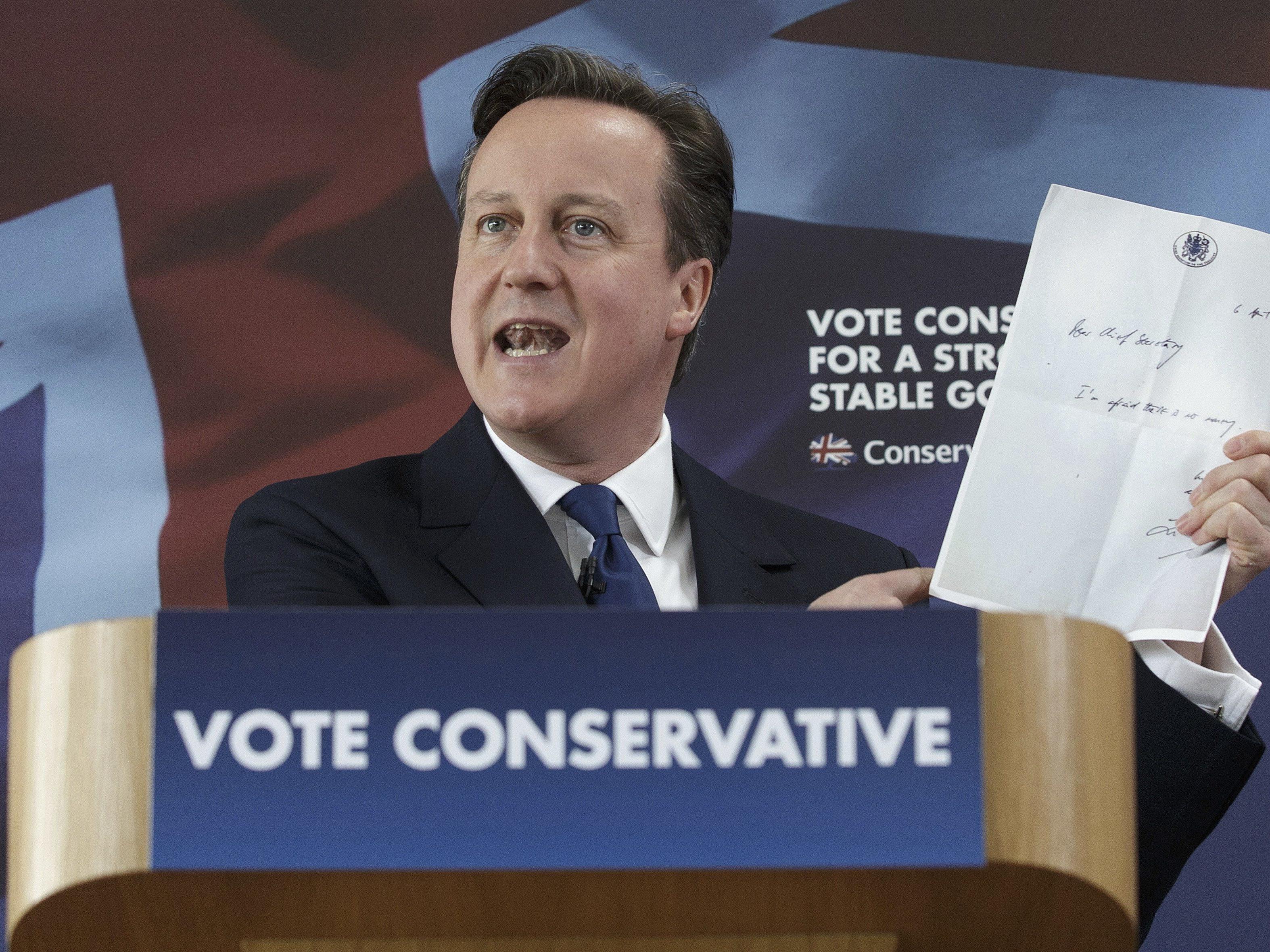 David Cameron will das EU-Referendum auf jeden Fall.