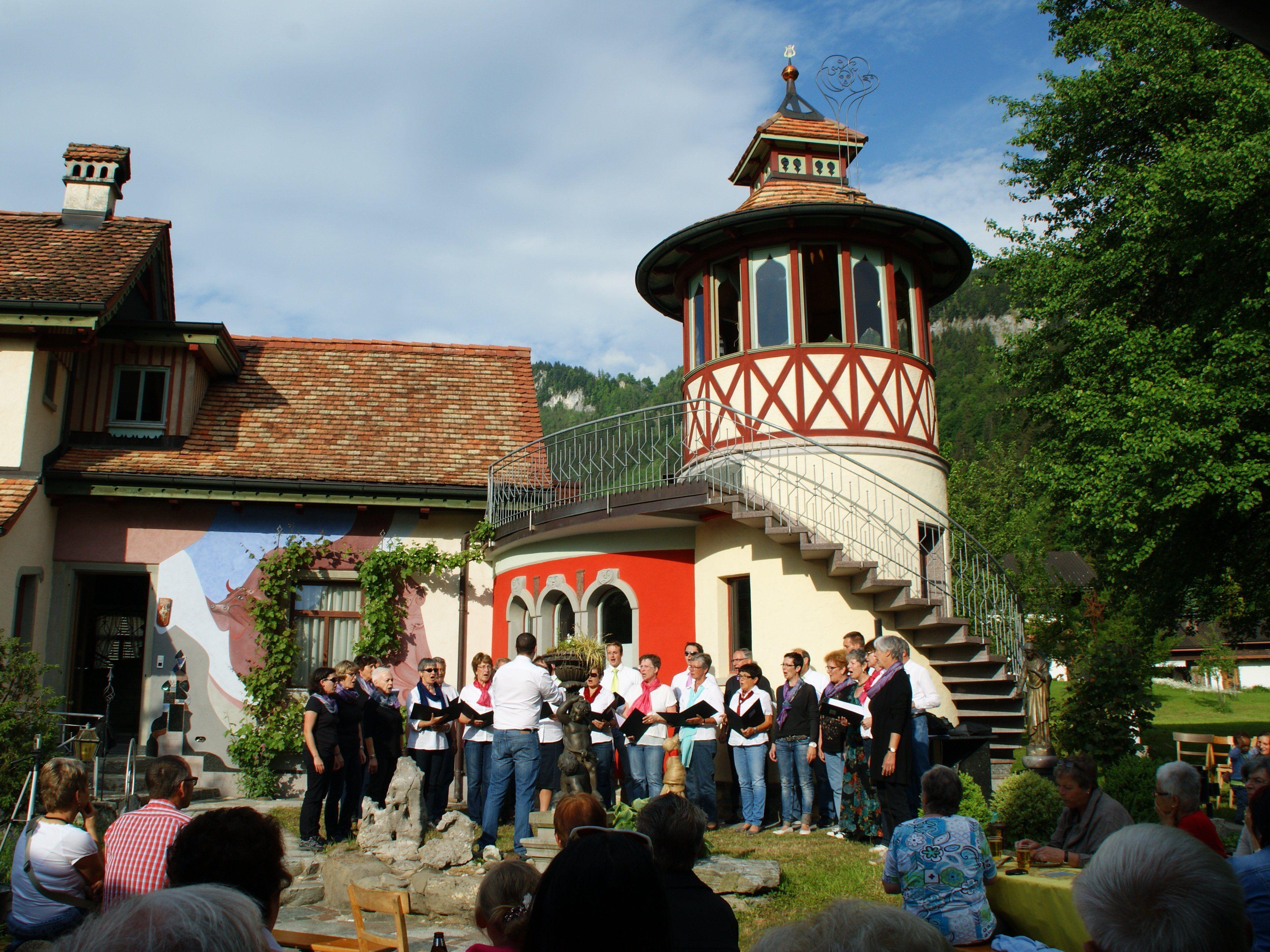 Die Sänger beim Bell-Schlössle
