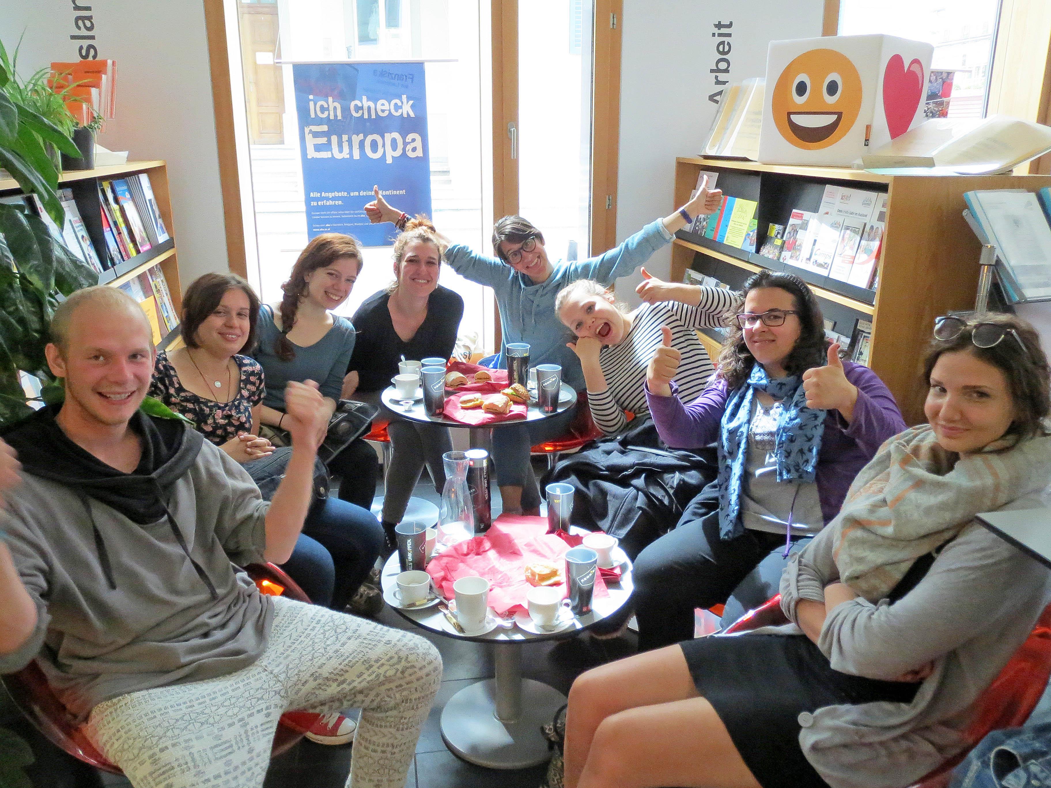 Im aha fand ein Infofrühstück mit AMS und BIFO Mitarbeiterinnen statt.