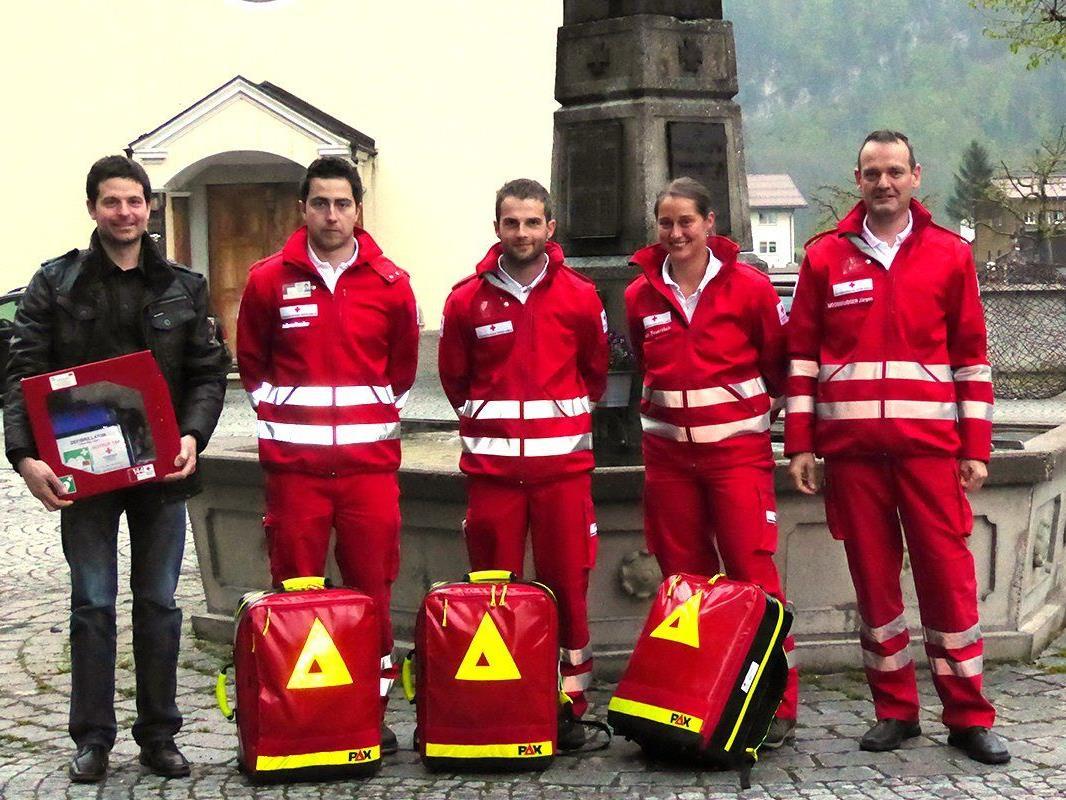 Am 28.4.2015 konnte die First-Responder-Einheit mit Bürgermeister Robert Meusburger und Ortsstellenleiter Jürgen Moosbrugger offiziell in Betrieb genommen werden.