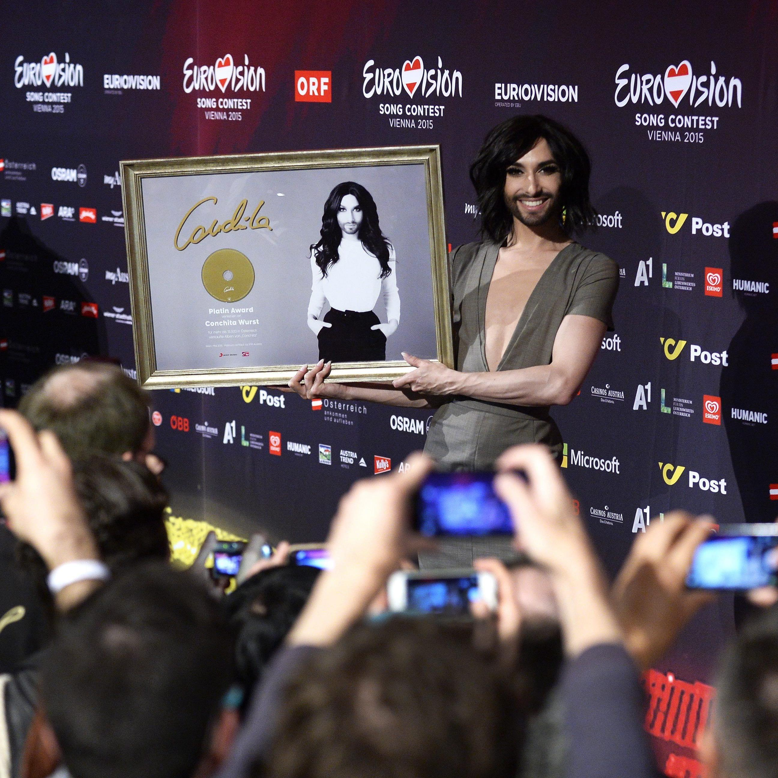 Conchita Wurst erhält Platin