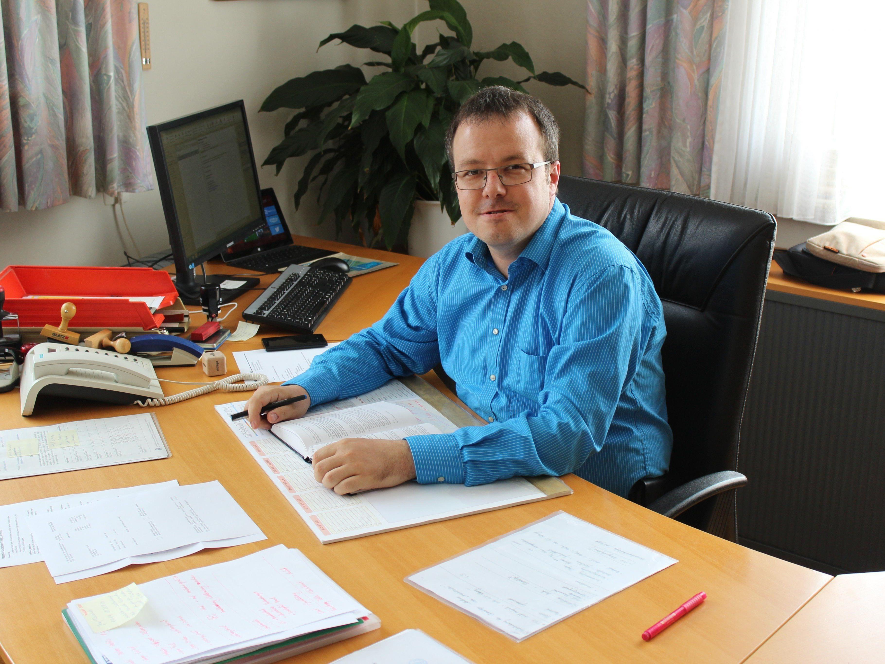 Tobias Bischofberger ist neuer Bürgermeister von Mellau
