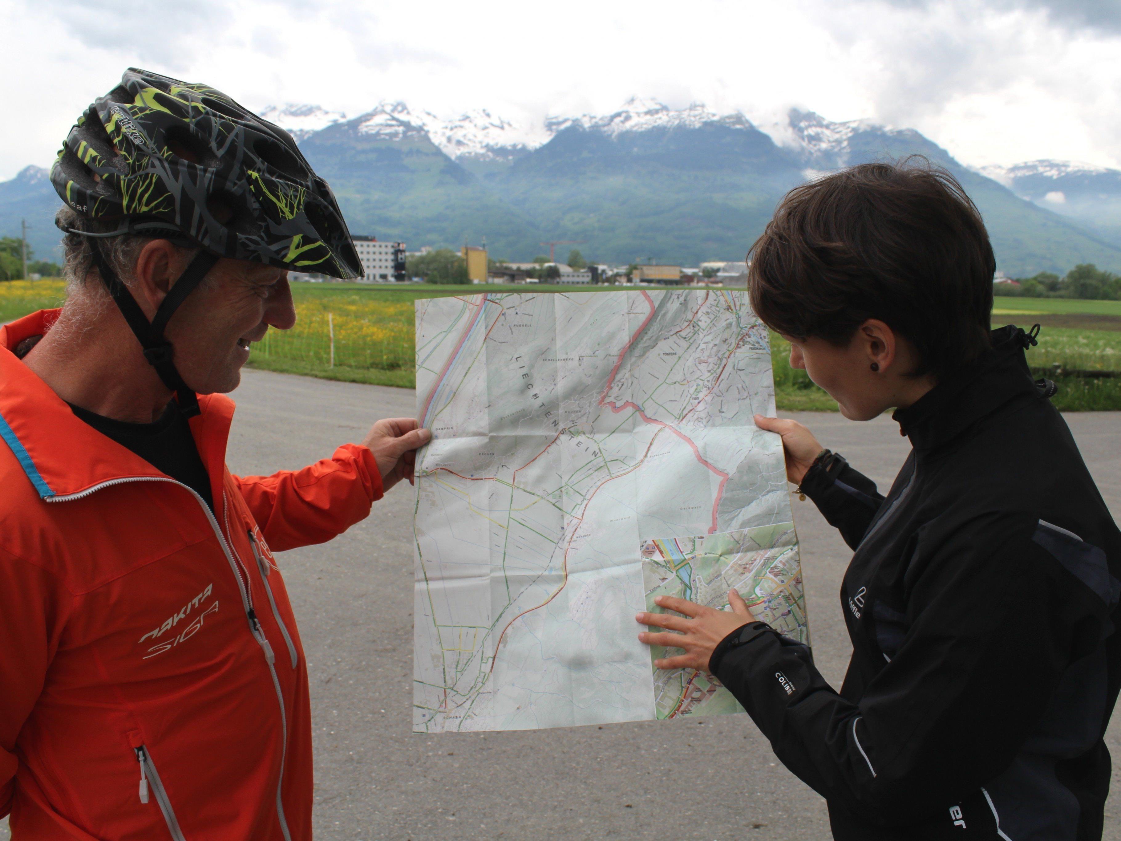 Fahrrad-Beauftragte Elisabeth Mair gab Tipps zu Pendlerrouten nach Liechtenstein.