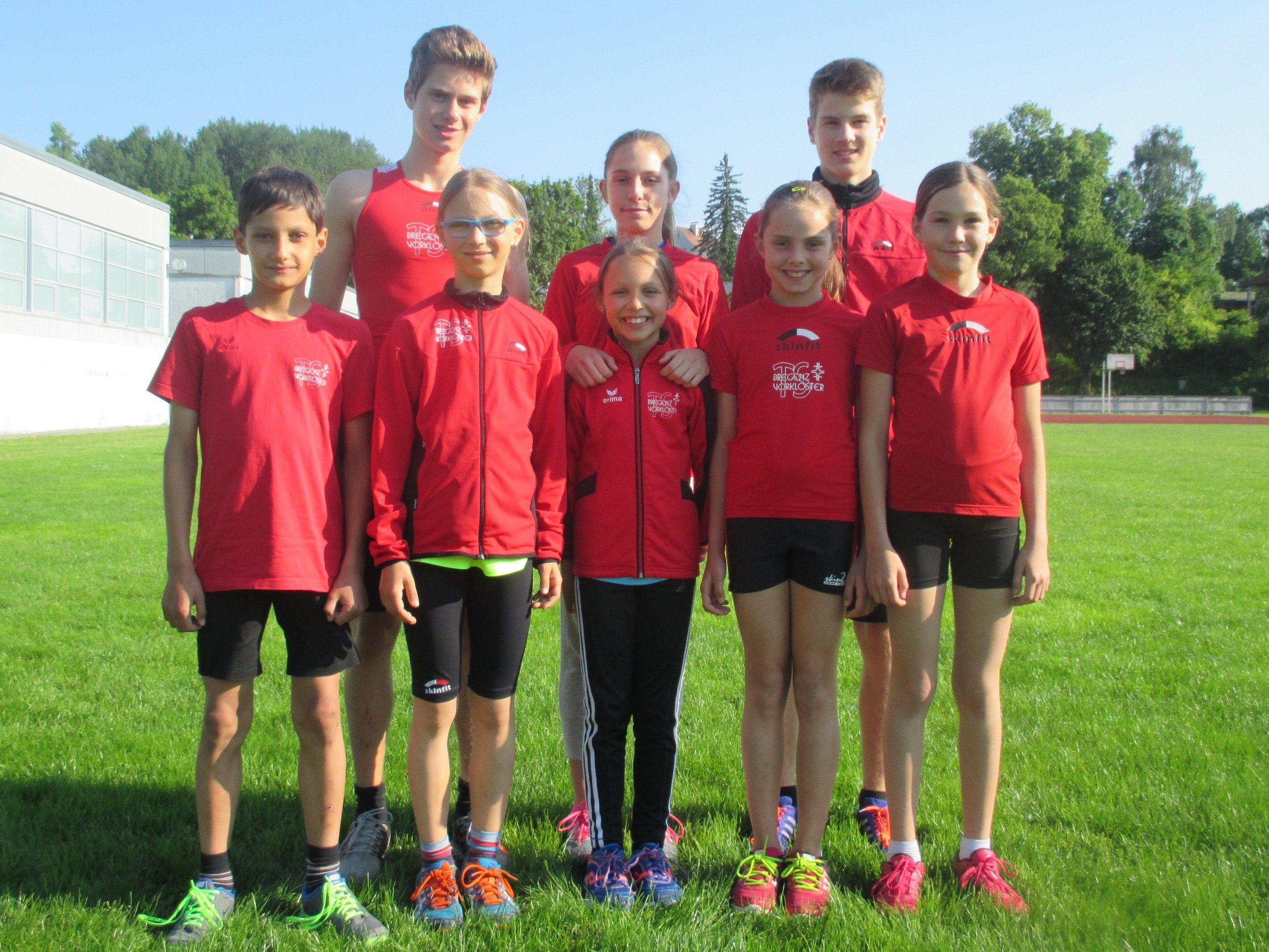 Die Medaillengewinner der TS Bregenz-Vorkloster an den VLV-Meisterschaften und Hindernismeisterschaften in Bludenz.