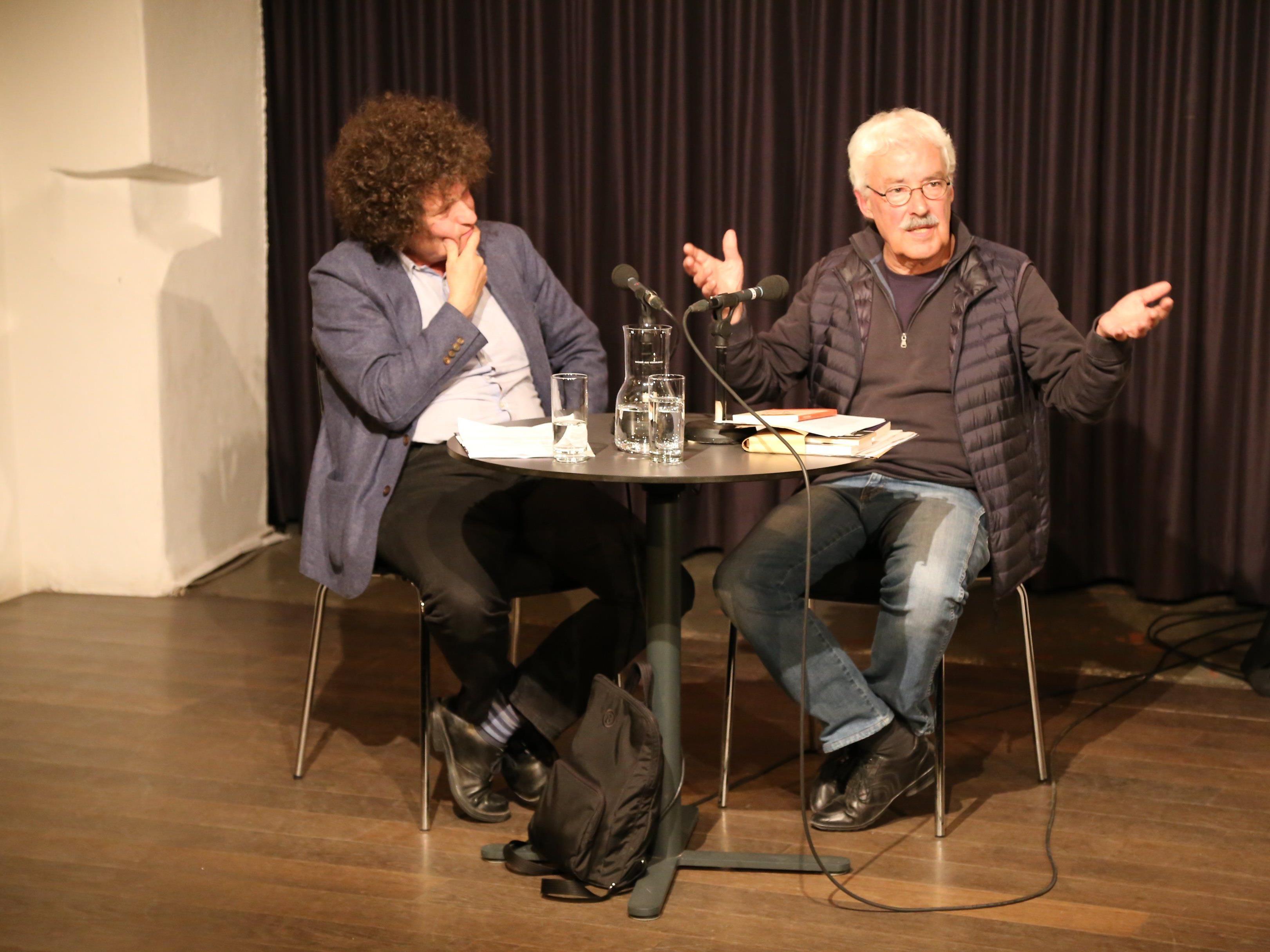 Hanno Loewy (links) und Joachim Paech bei den Literaturtagen im TAS.