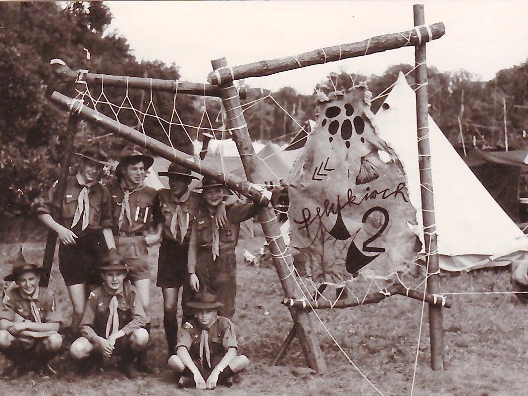 Die Patrulle Eisbär im Lager Laxenburg vor 54 Jahren.