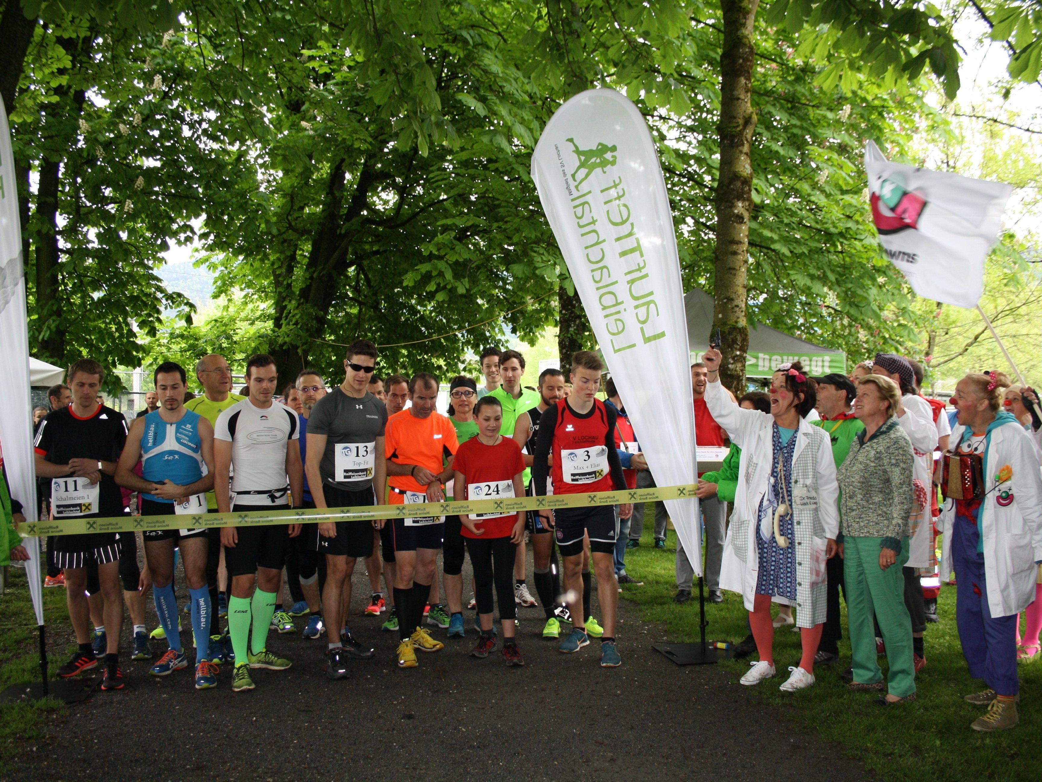 """Start zum 2. Charity-Lauf-Event """"Loufa und Healfa"""" in Lochau am Bodensee, veranstaltet von der Laufsportgruppe """"LaufTreff Leiblachtal""""."""