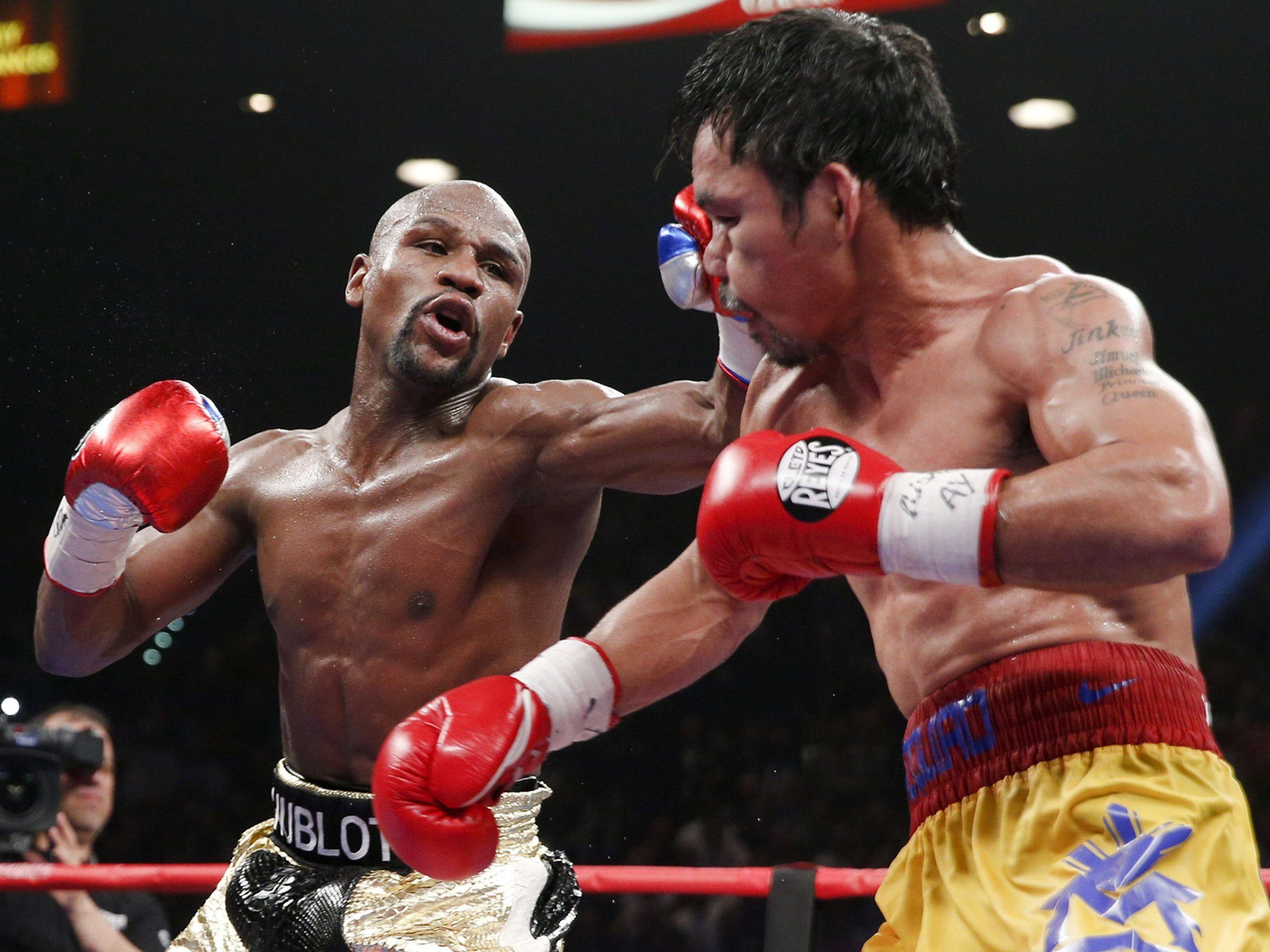 BEi einem Retourkampf Mayweather - Pacquiao würde auch für beide Boxer wieder ordentlich die Kasse klingeln.