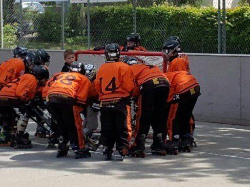 Die U13 der Walkers war gegen Bienne Skater 90 ohne Chance.