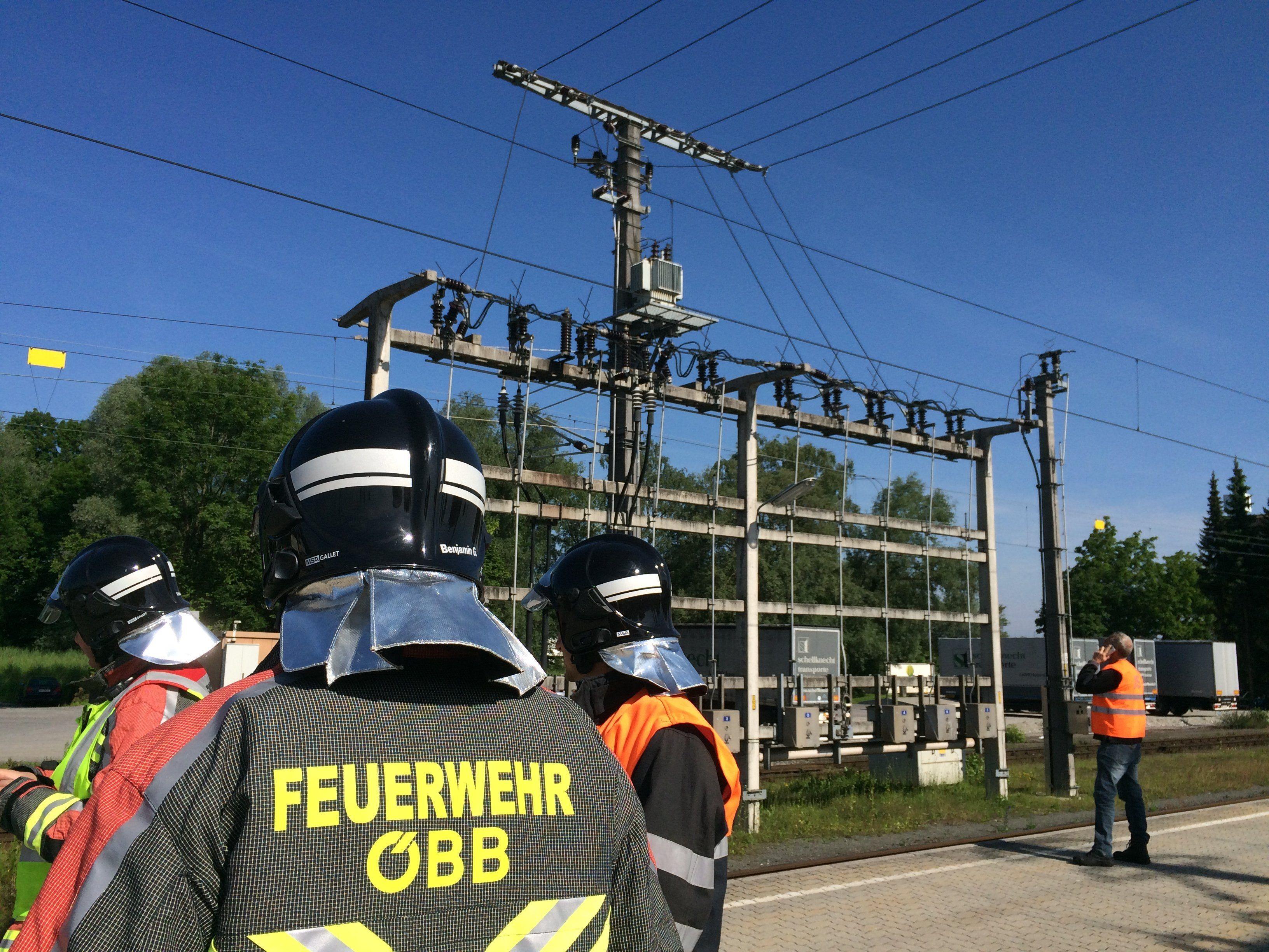 Defekt an einem Überspannungsableiter am Bahnhof Lustenau.