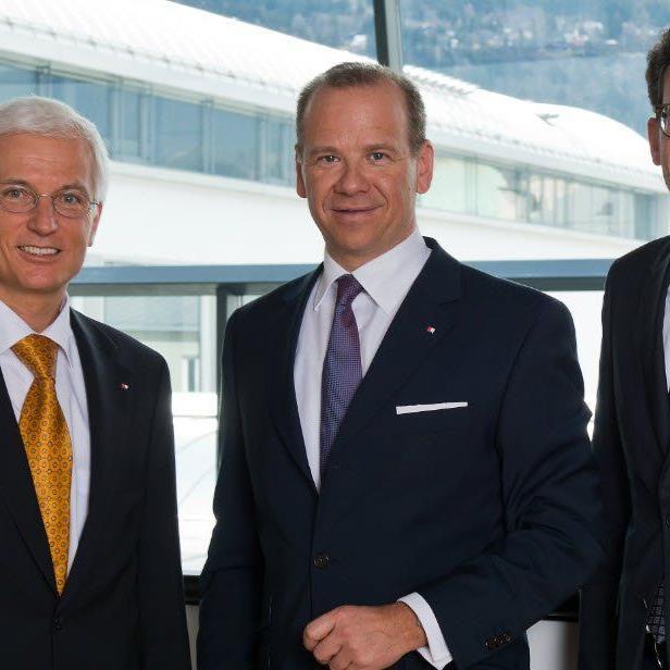 BTV Vorstände Matthias Moncher, Peter Gaugg und Gerhard Burtscher
