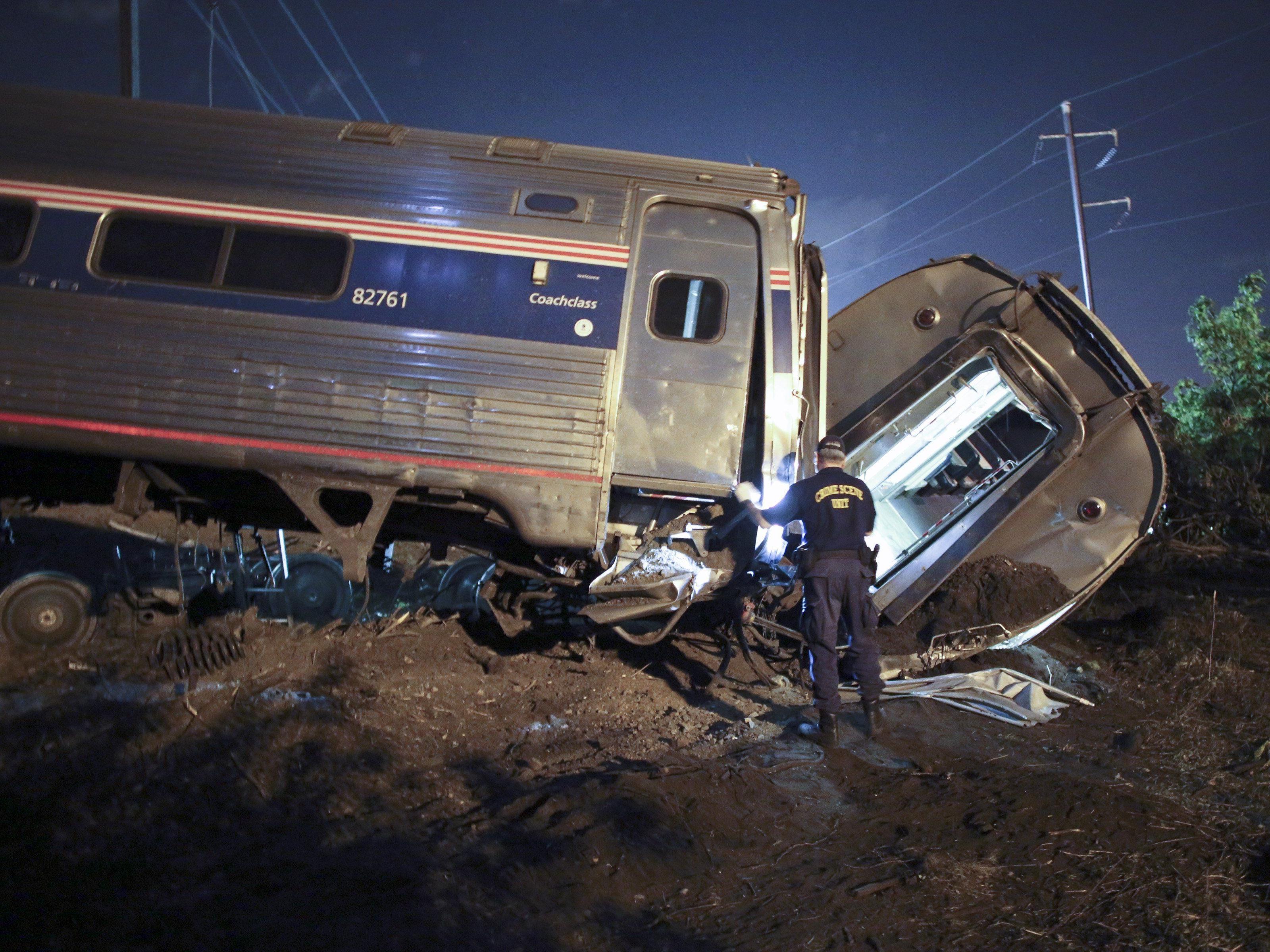 Ein Zugunglück in Philadelphia forderte fünf Menschenleben.