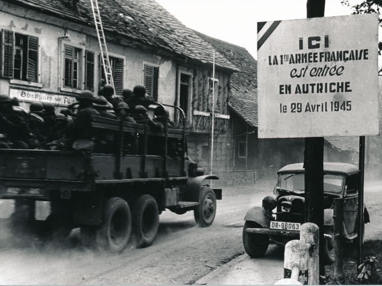 Franzosen erreichten Vorarlberg