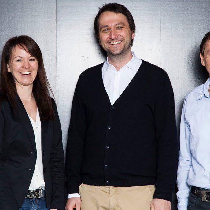 Sandra Jehle-Troy (Geschäftsführerin Glatz Stempel GmbH), Johannes Glatz (Geschäftsführer Glatz Unternehmensgruppe), Manfred Schrattenthaler (Geschäftsführer Glatz Klischee GmbH)