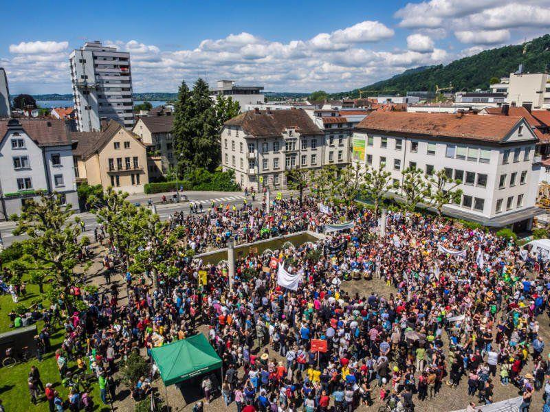 """Beim """"March Against Monsanto"""" rechnen die Veranstalter am Samstag wieder mit mehreren Tausend DemonstrantInnen in der Vorarlberger Landeshauptstadt"""