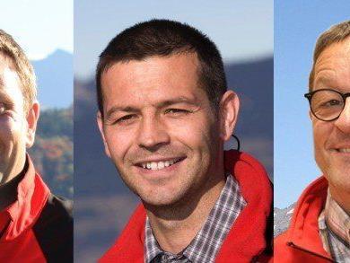 Neuer Vorstand, v.l.: Landesleiter Burger, Landesleiter Stellvertreter Klehenz, Finanzreferent Bürkle