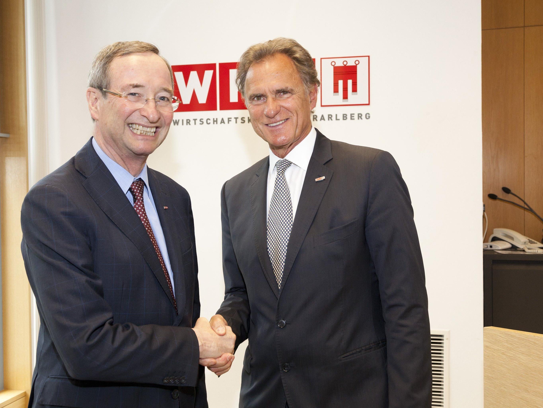 Von WKÖ-Präsident Dr. Christoph Leitl angelobt.