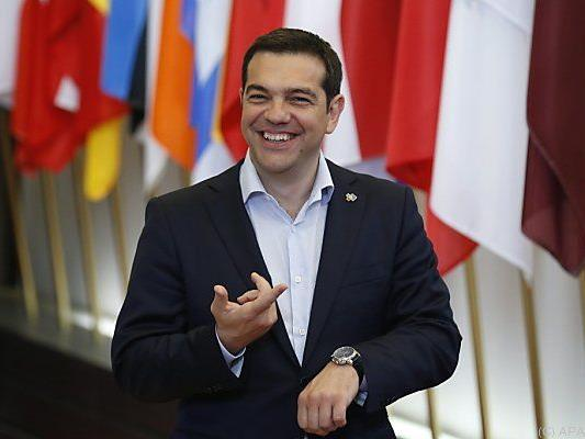 Tsipras freut sich über das gute Gesprächsklima