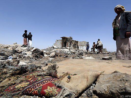 Spuren des Krieges in Sanaa