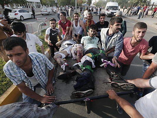 Menschen wurden bei der Explosion verletzt