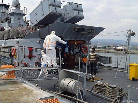 Italienische Marine ist im Dauereinsatz