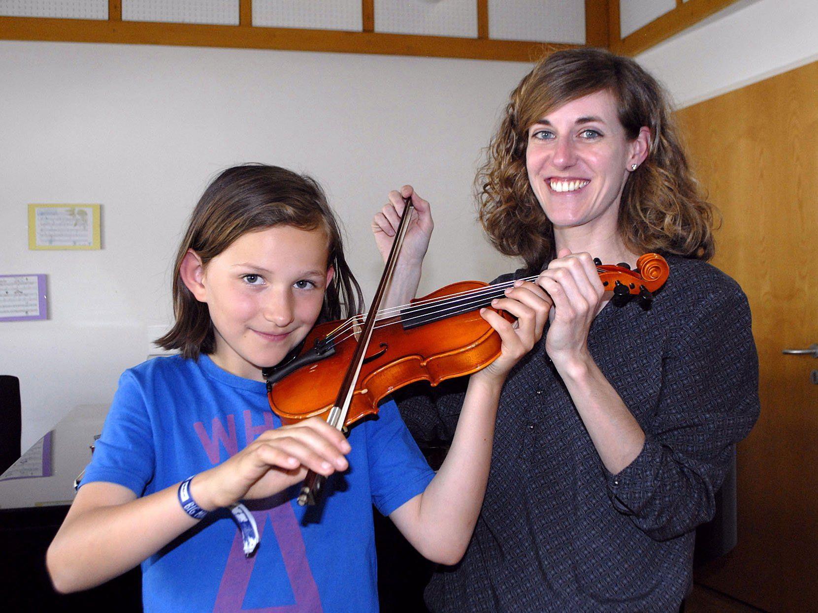 Ein Schnappschuss des diesjährigen Tages der offenen Tür an der Musikschule Hofsteig in Wolfurt