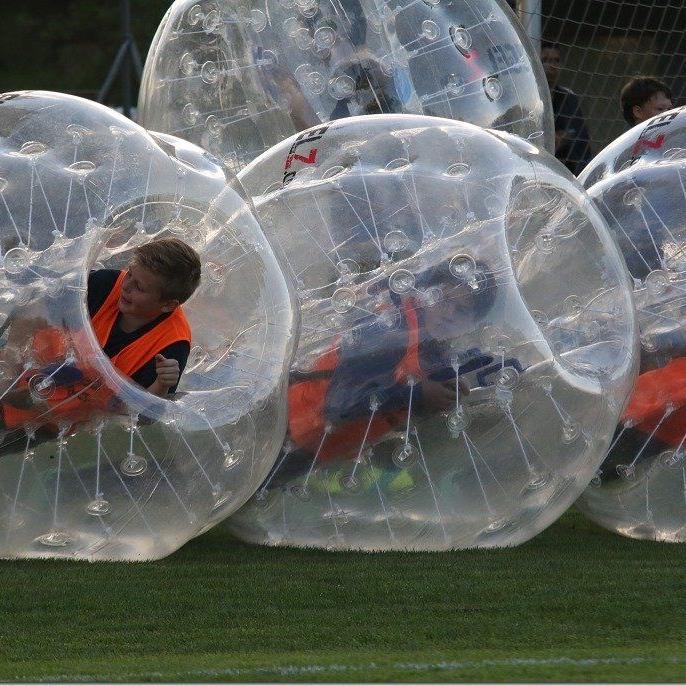 Bubbleball-Premiere im Römerstadion am 27. Juni