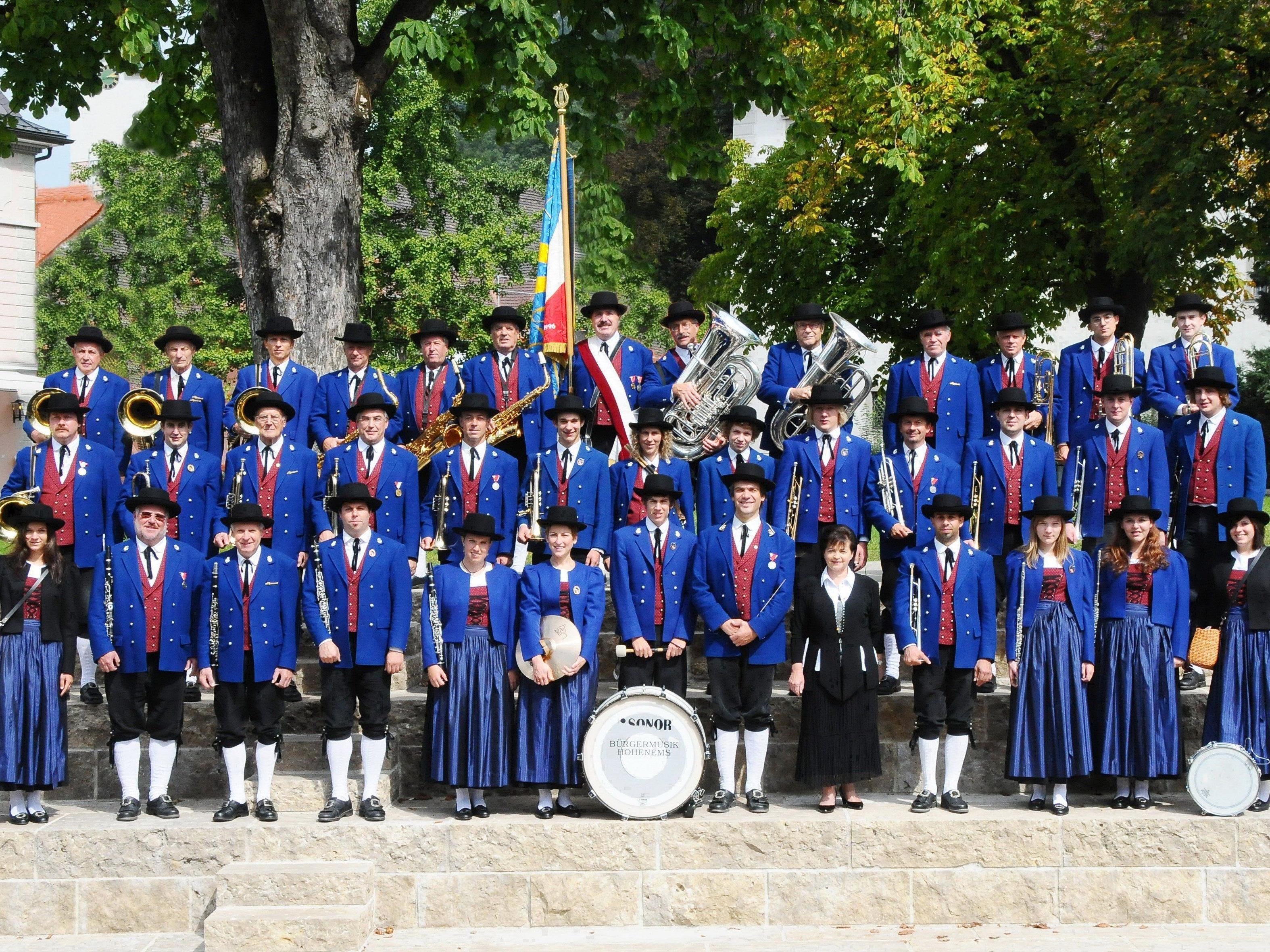 Das Sommerfest der Bürgermusik Hohenems findet auf dem Schulhof der VS Markt statt.