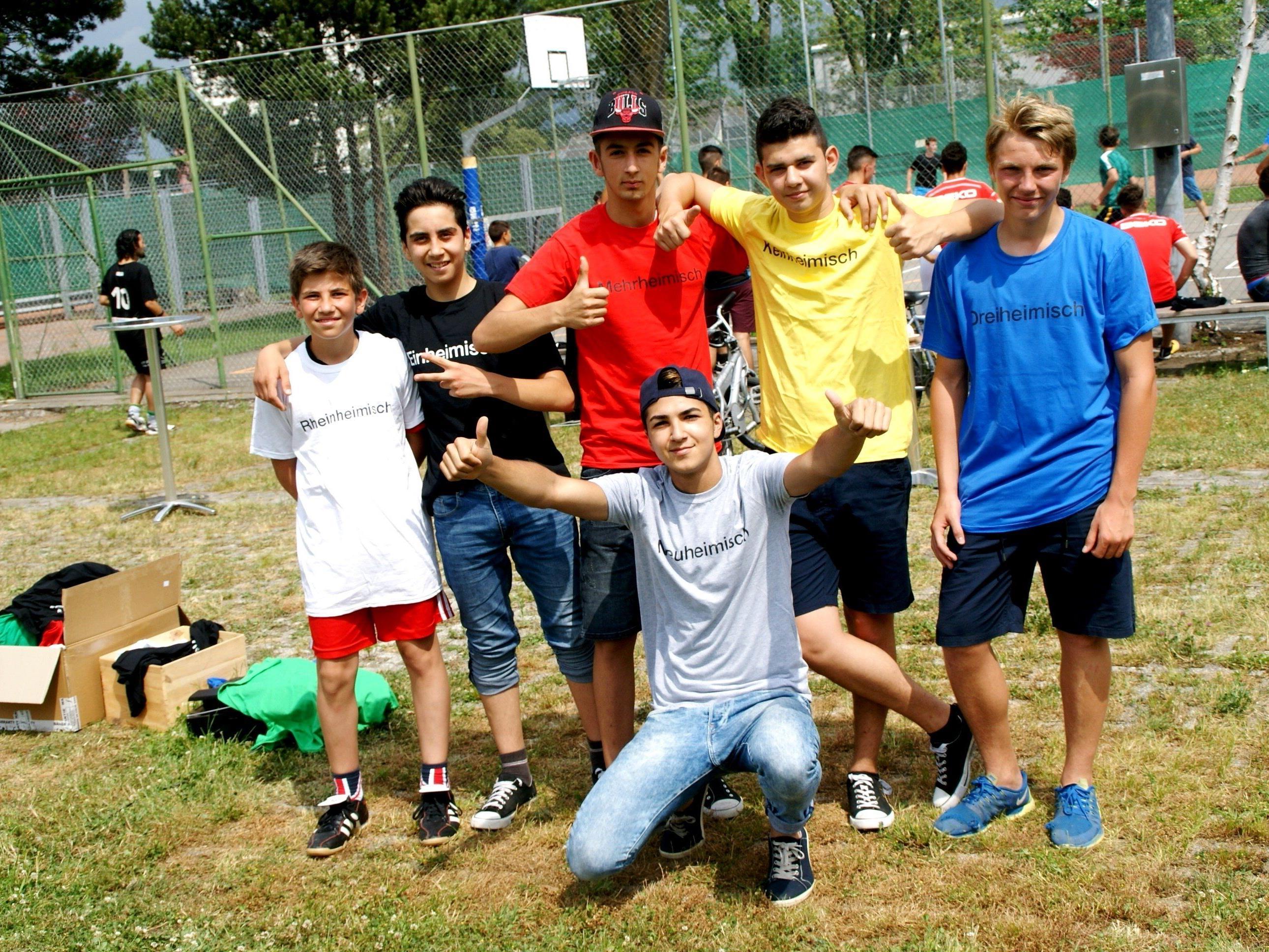 Fremdheimisch und Einheimisch spielten Fußball!