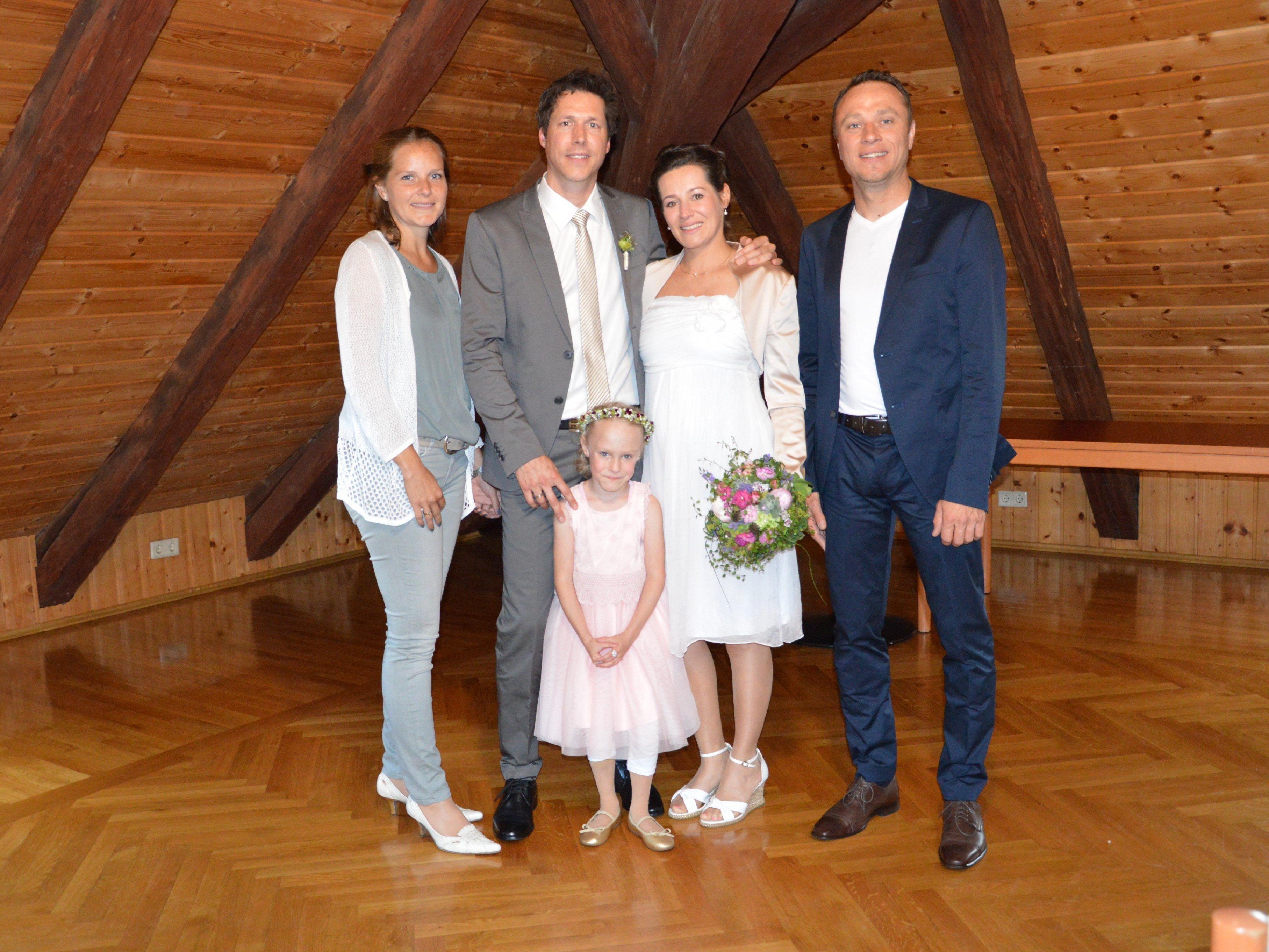 Sarina Bachmair und Wolfgang Moosmann haben geheiratet