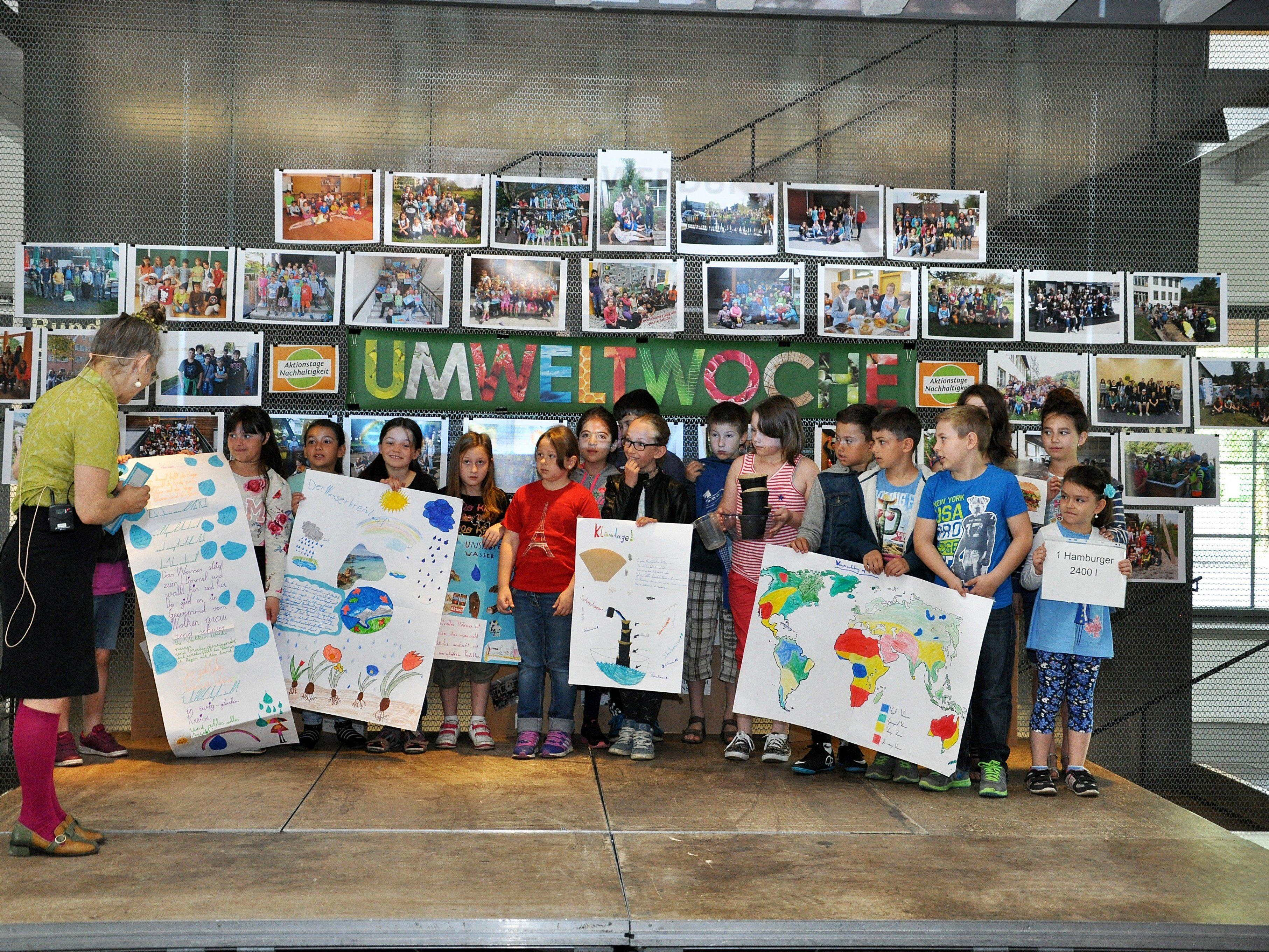 Ein Teil der Projekte wurde bei den Schulaktionstagen in der inatura vorgestellt.